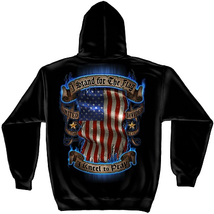 Patriotic I Stand for the Flag Hoodie