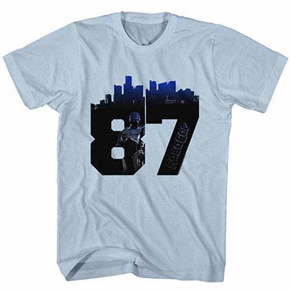 Robocop Numbacity Blue Tee Shirt