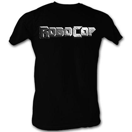 Robocop Logo In Silver T-Shirt
