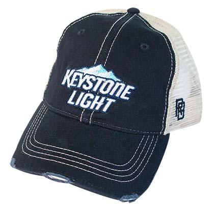 Keystone Light Distressed Trucker Hat