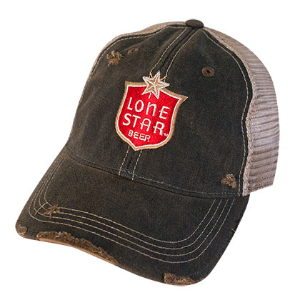 Lone Star Beer Distressed Trucker Hat
