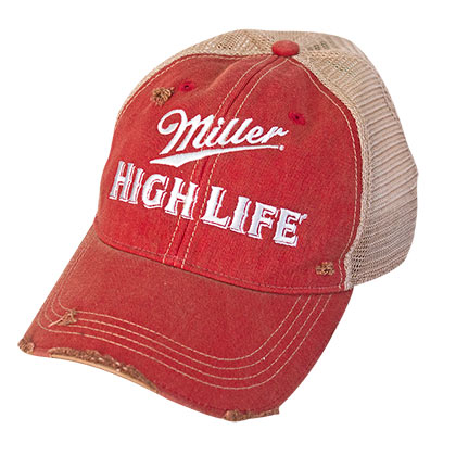 Miller High Life Distressed Trucker Hat