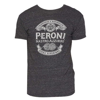Peroni Men's Heather Gray Logo T-Shirt