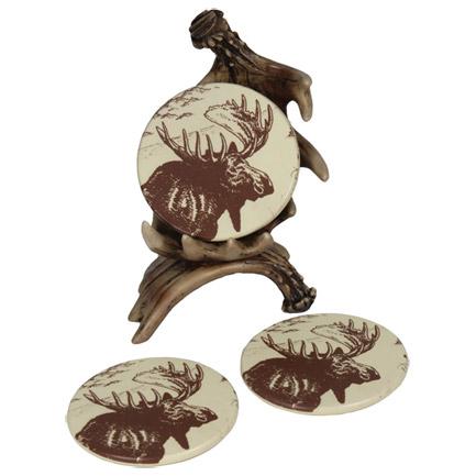 Moose Coasters Four Set