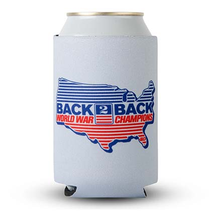 Rowdy Gentleman Back to Back World War Champs Grey Can Insulator