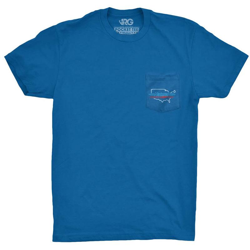 9d02f6e2d24fab Natty Light Men s Blue Rowdy Gentleman Proud American T-Shirt