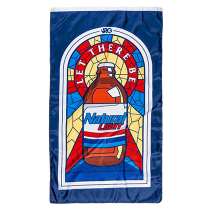Natty Light Stained Glass Flag