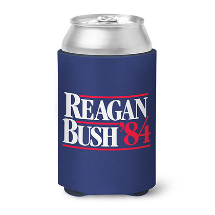 Reagan Bush 84 Rowdy Gentleman Navy Blue Can Cooler