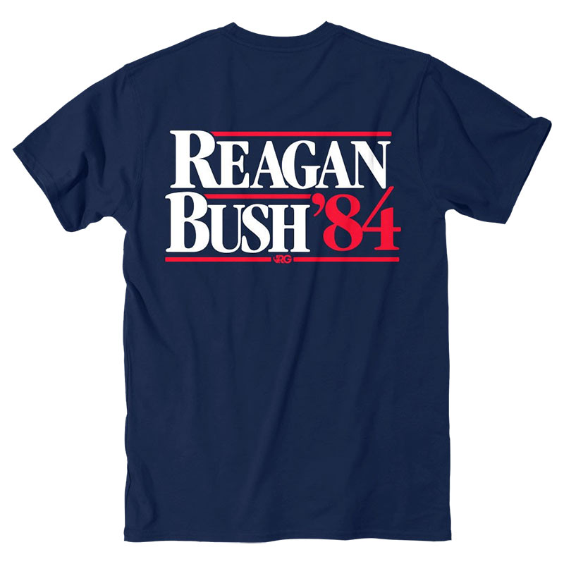 Rowdy Gentleman Men's Navy Blue Reagan Bush 84 T-Shirt