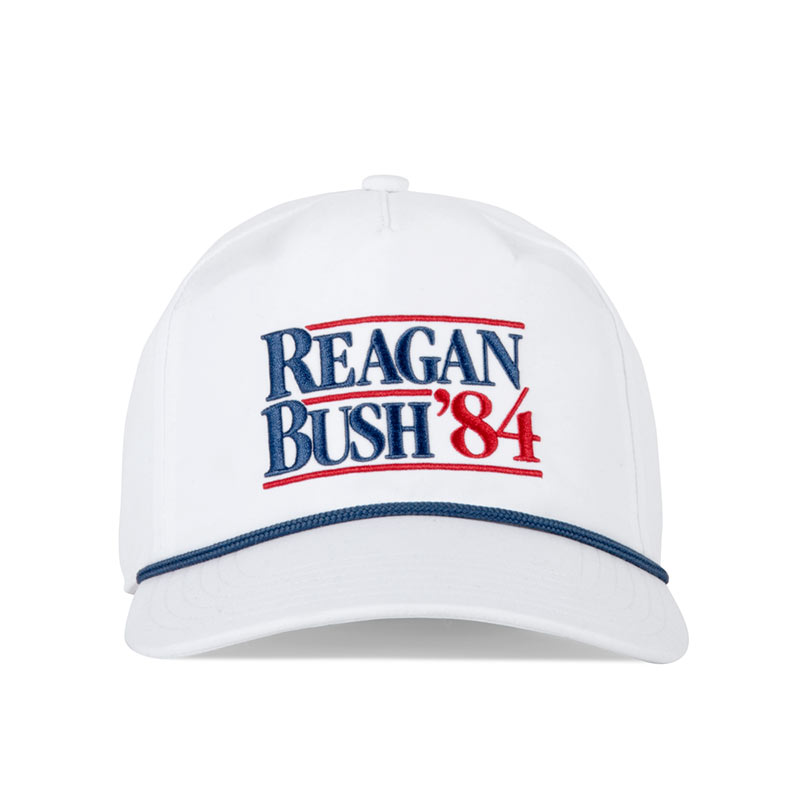 51c24191d7271 Reagan Bush  84 White Snapback Hat