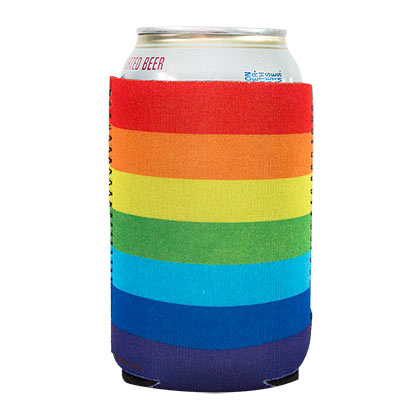 Rainbow Beer Can Insulator