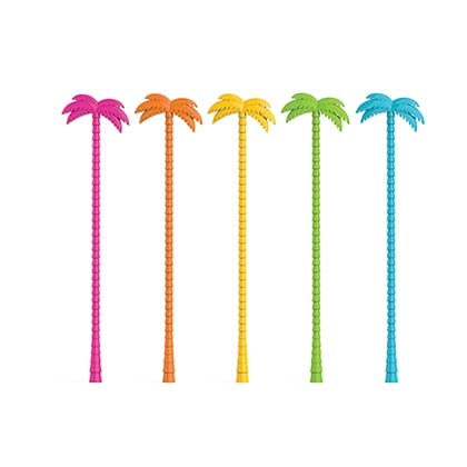 Palm Tree Cocktail Drink Stir Sticks Set