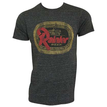 Rainier Beer Logo Retro Brand Heather Gray Men's Tee Shirt