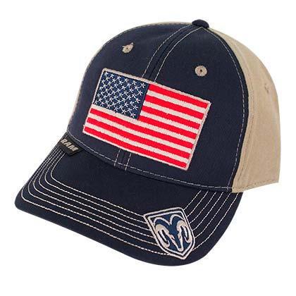 Dodge Ram Adjustable American Flag Hat
