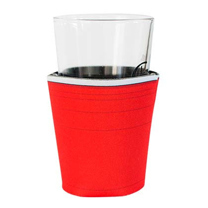 Pint Glass Red Plastic Cup Can Cooler