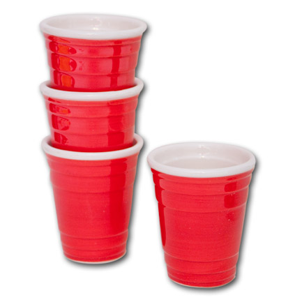 Red Solo Cup 4 Pack Shot Glasses Set