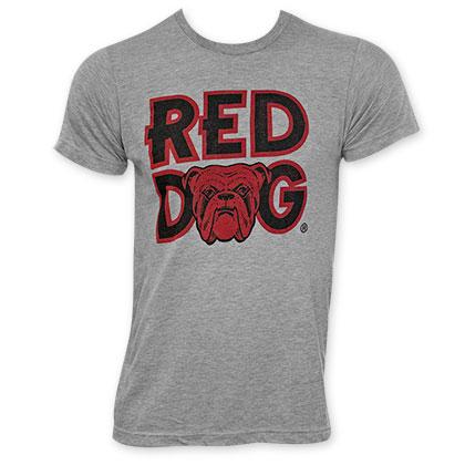 Red Dog Classic Logo Men's Grey T-Shirt