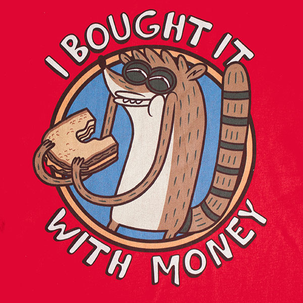 Regular Show Men's Bought It With Money Tee Shirt