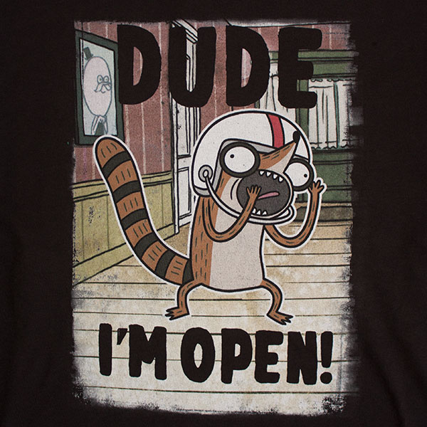 Regular Show Men's I'm Open Tee Shirt