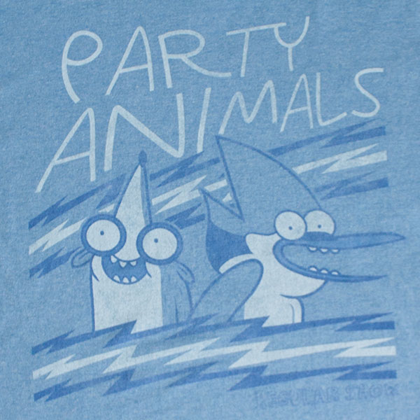 Regular Show Party Animals Blue T-Shirt