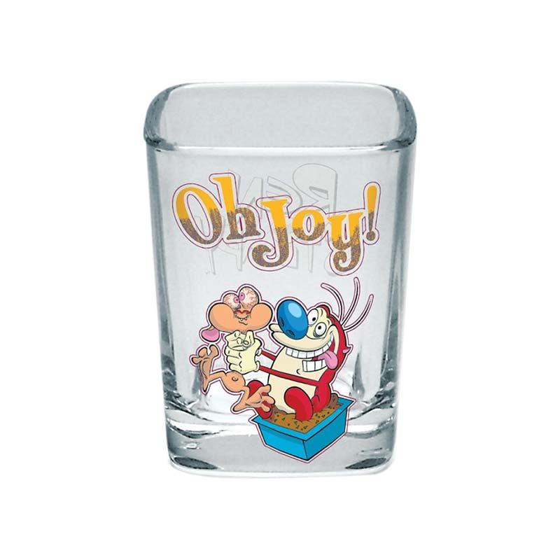 Ren And Stimpy Square Oh Joy Shot Glass