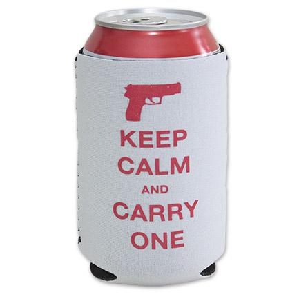 Rowdy Gentleman Keep Calm 12 oz. Beer Koozie