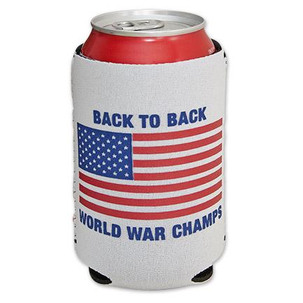 Rowdy Gentleman World War Champs 12 oz. Beer Can Cooler