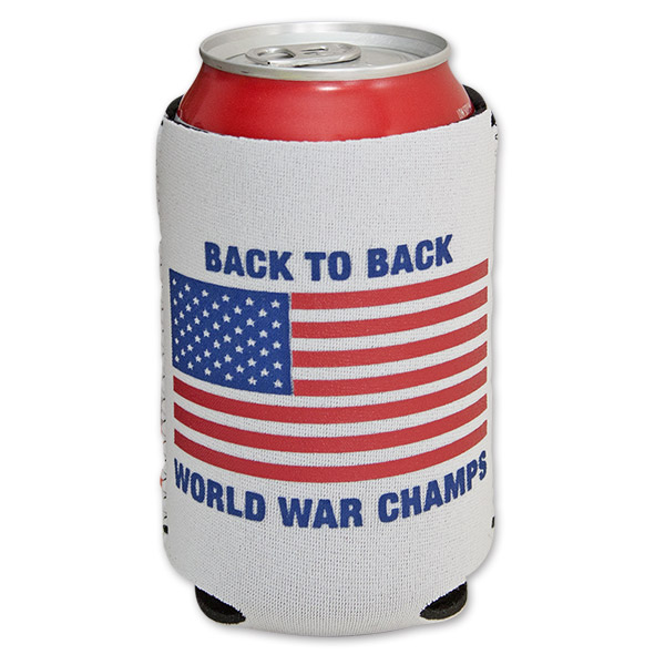 Rowdy Gentleman World War Champs 12 oz. Beer Koozie