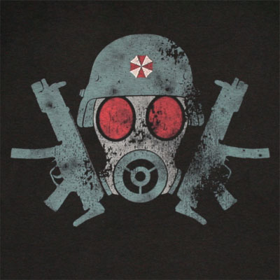 Tops & Tees Resident Evil Gas Mask Mens Black T Shirt Back To Search Resultsmen's Clothing