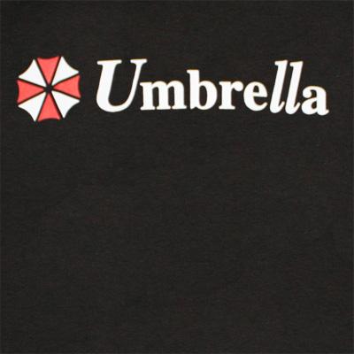 Resident Evil Umbrella Logo Black Graphic TShirt