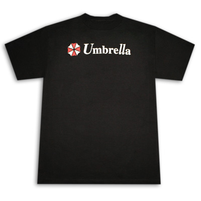 Resident Evil Umbrella Logo Black Graphic TShirt