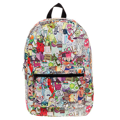 Rick and Morty All Over Print Sublimated Backpack