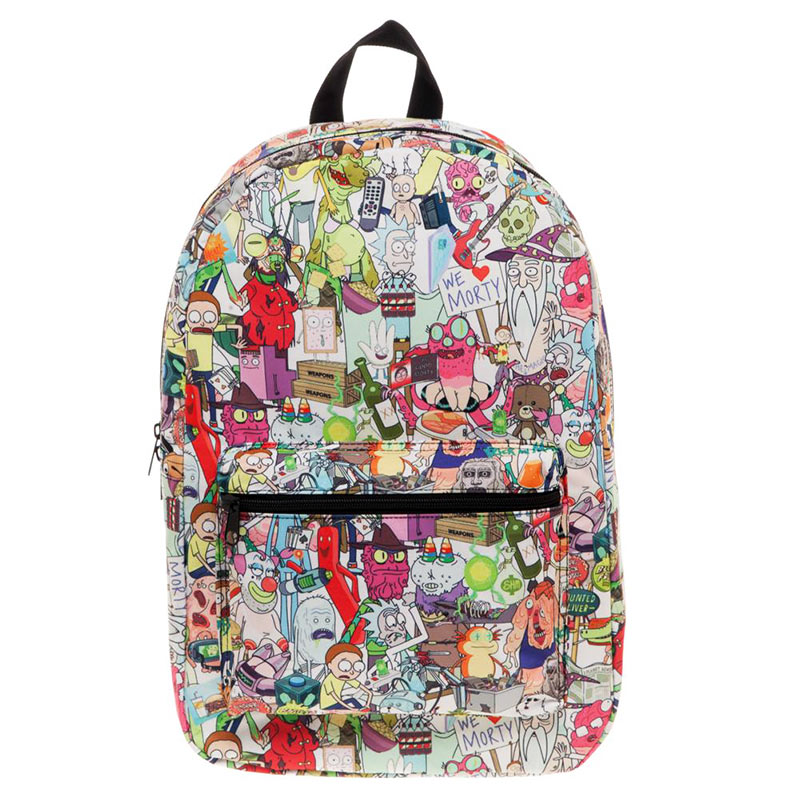Rick and Morty Sublimated All Over Print Backpack