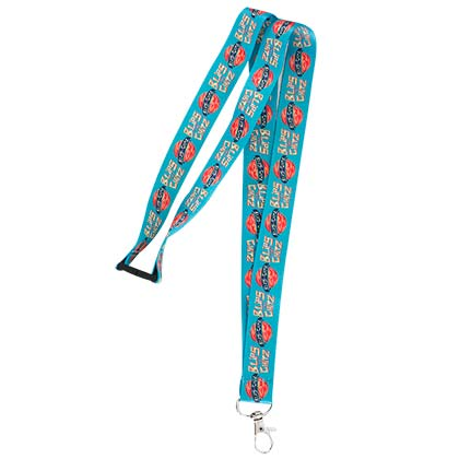 Rick And Morty Blue Blips Chitz Lanyard
