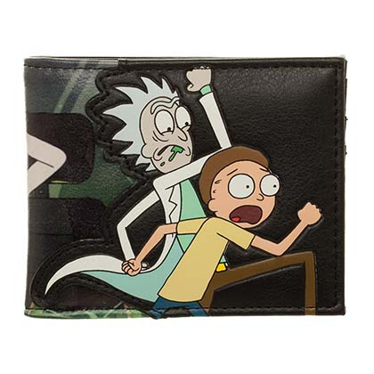 Rick And Morty Black Wallet