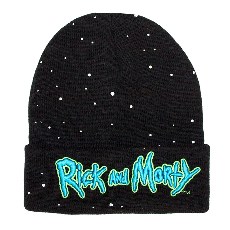 Rick And Morty Black Glow In The Dark Beanie