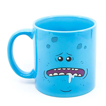 Rick And Morty Mr. Meeseeks 20oz Blue Coffee Mug