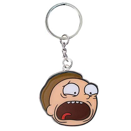 Rick And Morty Rubber Screaming Morty Keychain