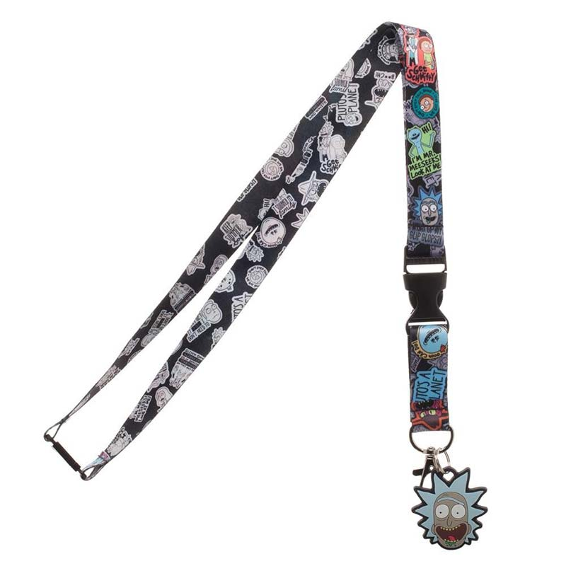 Rick And Morty Characters Lanyard