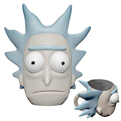 Rick And Morty Large Molded Rick Face Mug With Lid