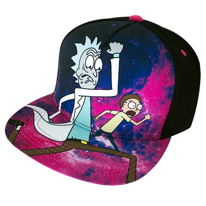 Rick And Morty Running Cartoon Network Full Color Men's Hat