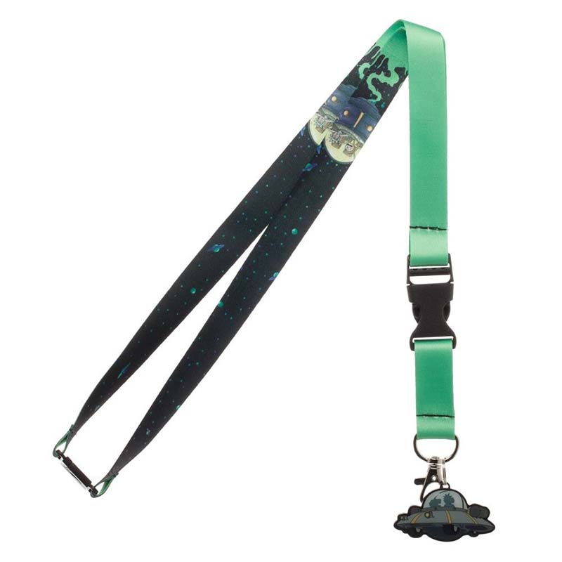 Rick and Morty UFO Charm Lanyard