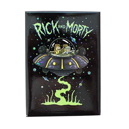 Rick And Morty Black UFO Magnet