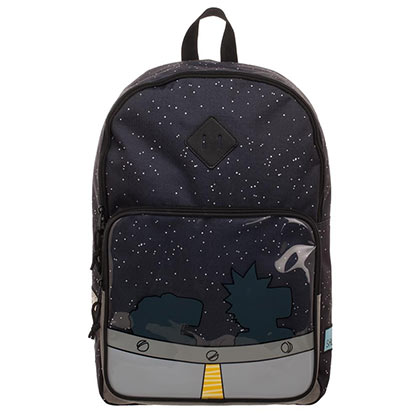 Rick And Morty UFO Black Backpack