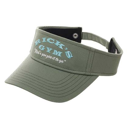 Rick And Morty Rick's Gym Green Visor Hat