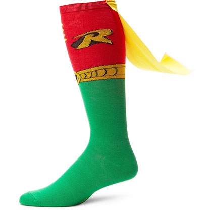 Robin Men's Green And Red Cape Socks
