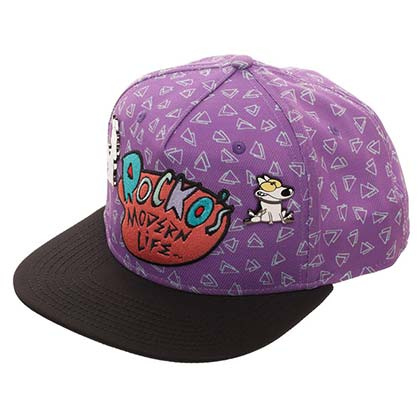 Rocko's Modern Life Embroidered Logo Purple Snapback Hat