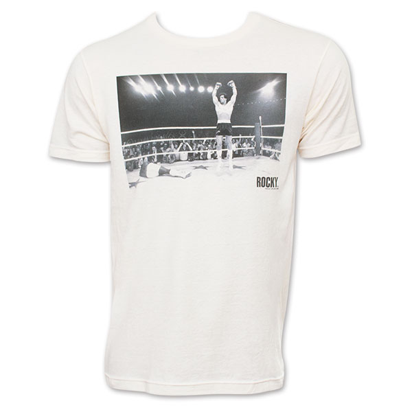 Rocky Cream-Colored Apollo Creed Knockout Tee Shirt