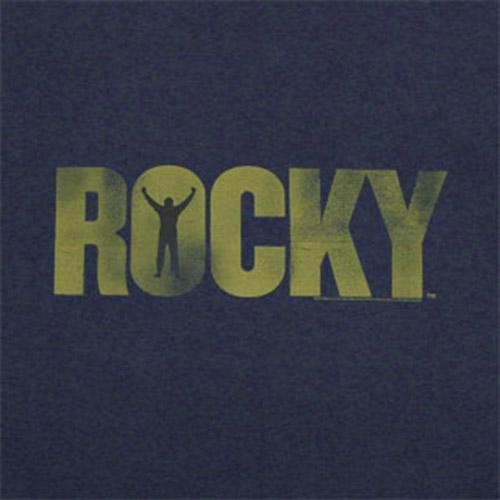 Rocky Yellow Logo Navy Blue Graphic TShirt