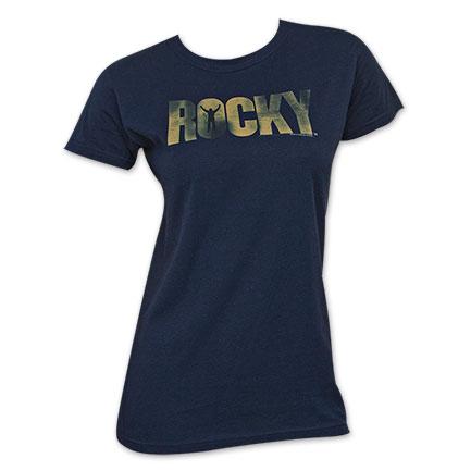 Rocky Navy Blue Women's Logo Tee Shirt